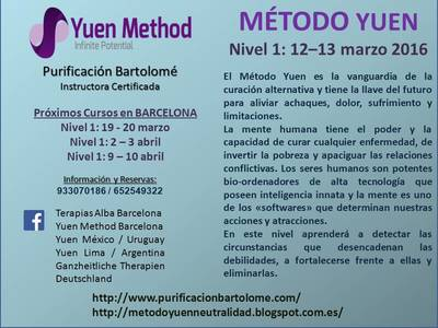 UPCOMING COURSES BARCELONA