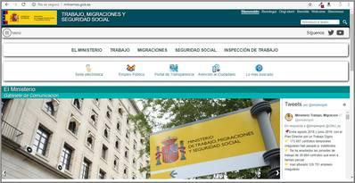 Ministerio de Trabajo y Asuntos Sociales.