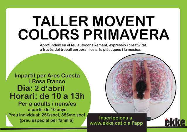 Taller movent colors PRIMAVERA