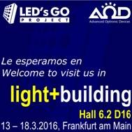 @ledsgoyaod Booth at # LB16, one more than obligatoria.Ven stop at Hall 6.2 D16