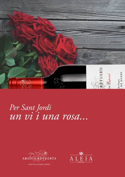 SAINT JORDI: BOOKS, ROSES... AND WINES!