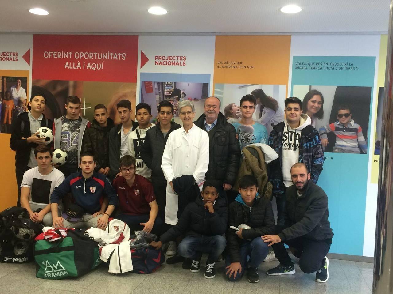 El jueves 15/12/2016 visitamos el Hospital de Nens de Barcelona