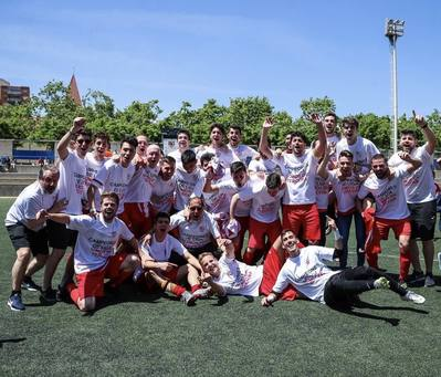 El 1r equip, Campió de Lliga. Ascens a 3a Catalana.