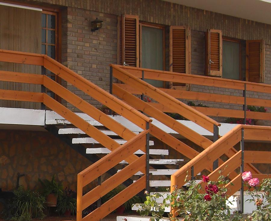 Barandillas de madera para exterior affordable guardamar - Madera para exteriores ...