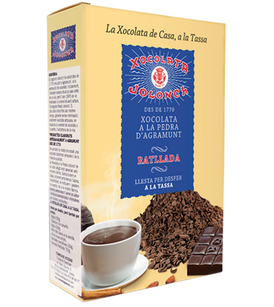 Chocolate a la piedra rallada en caja de 300 gr.