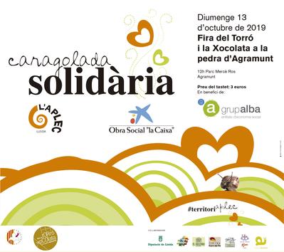 Caragolada Solidària Fira del Torró i de la Xocolata a la Pedra d'Agramunt