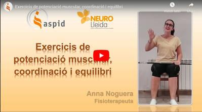 Exercicis de potenciació muscular, coordinació i equilibri