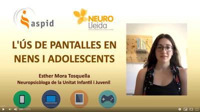 L'ús de pantalles en nens i adolescents