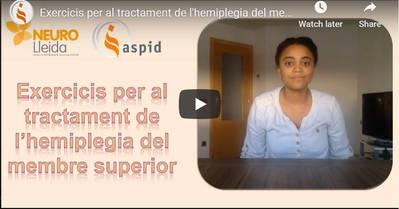 Exercicis de Teràpia Ocupacional per l'hemiplegia