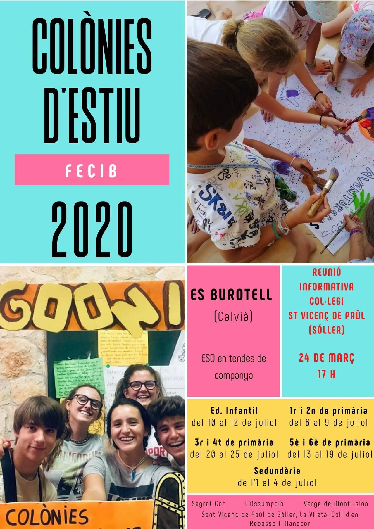 COLÒNIES D'ESTIU 2020