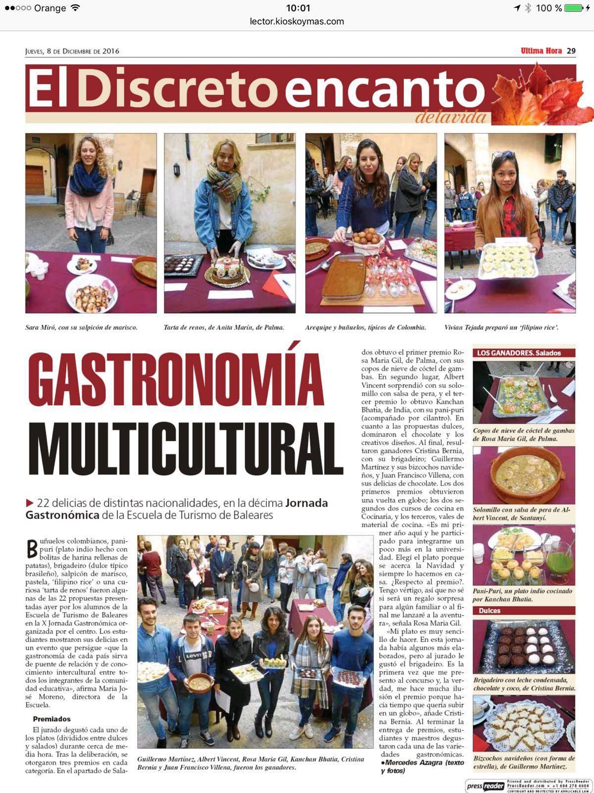 Gran cobertura mediática de la X Jornada Gastronómica