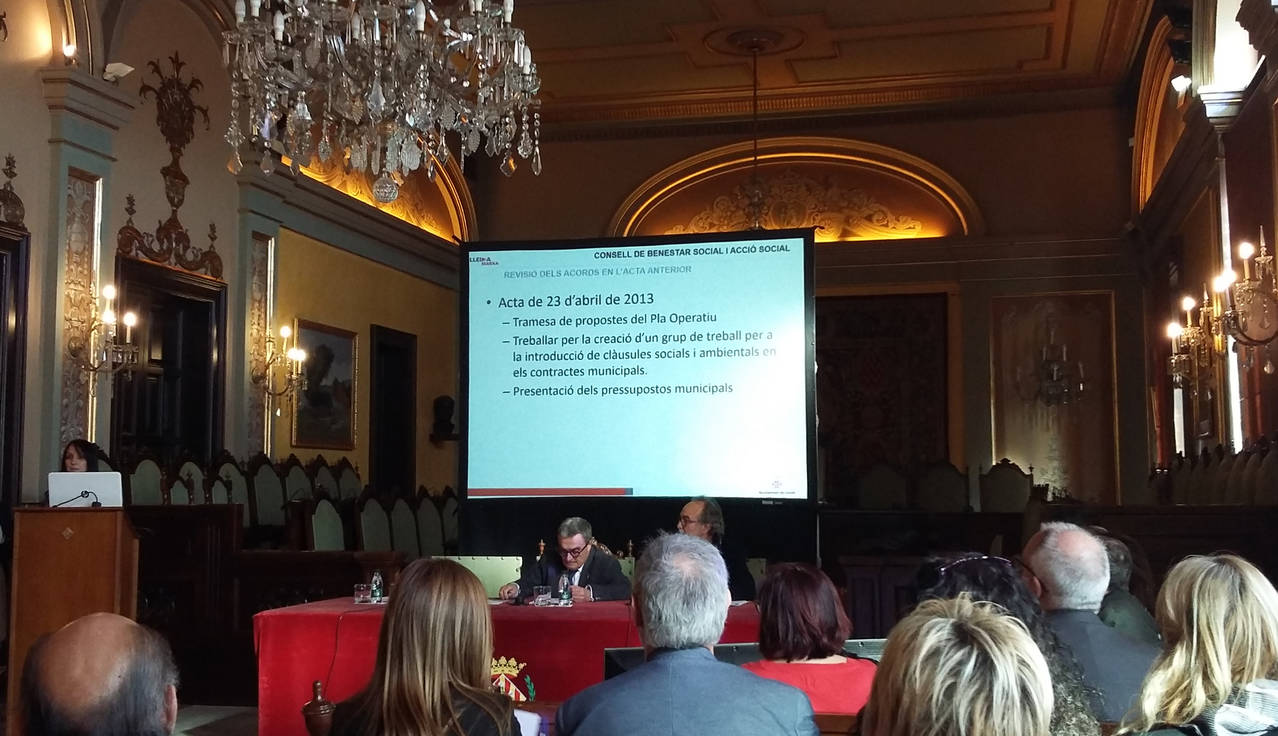 Acte de Constitució del Consell de Benestar i Acció Social de Lleida.