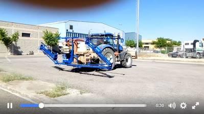 Modificación de brazos reforzados de 18 metros para ensulfatadora