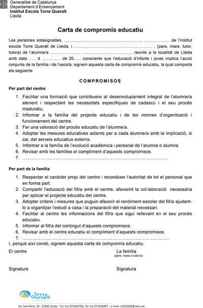 Carta compromís educatiu