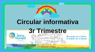 Circular informativa 3r Trimestre
