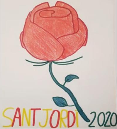 Els alumnes de cicle superior (5è i 6è) celebren la diada de Sant Jordi 2020