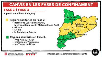 La regió de Lleida ha entrat a la Fase 2 de desconfinament