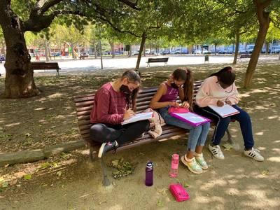 Els alumnes de 6è visiten el parc de Les magnòlies