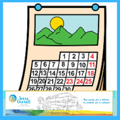 Calendari escolar I E Torre Queralt 2020-21