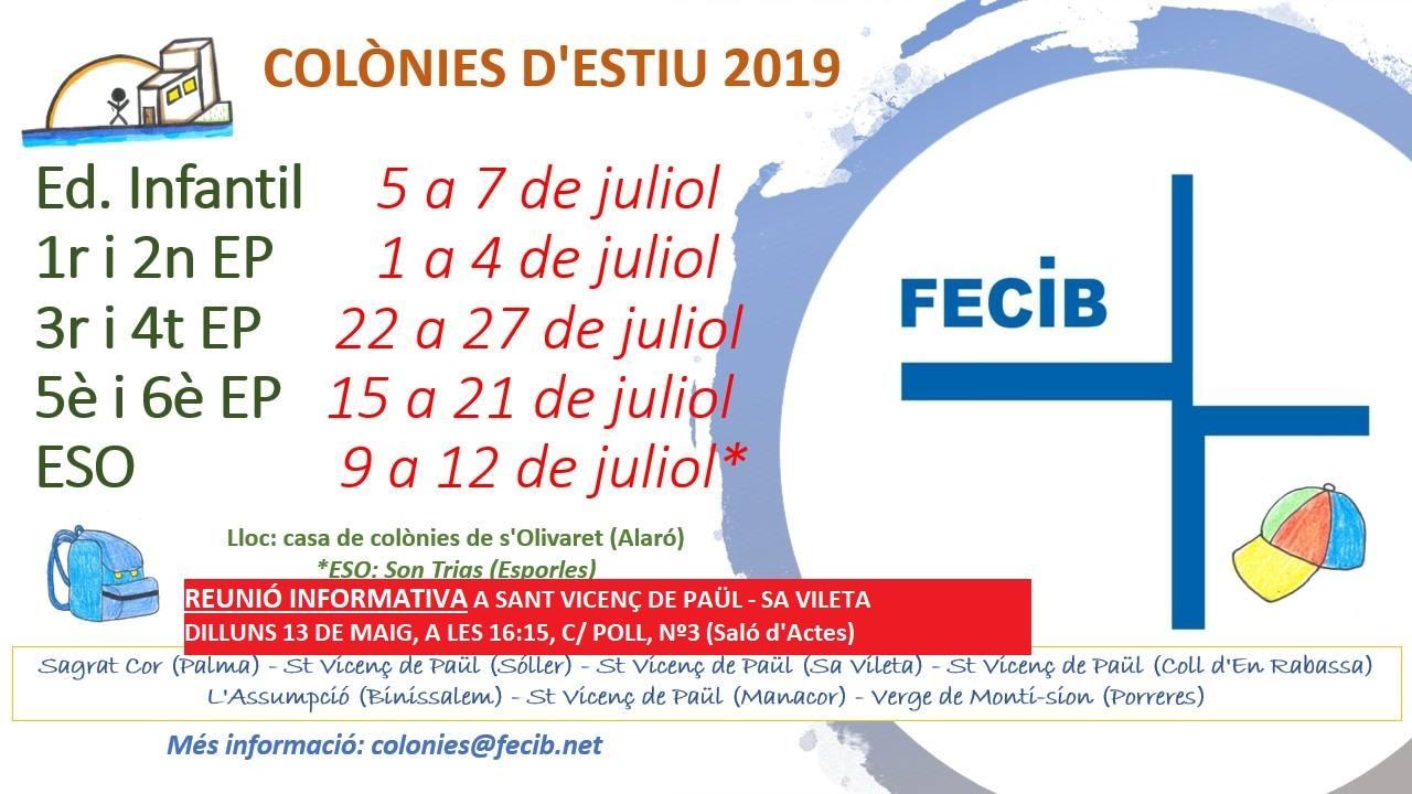 """INFORMATIVE MEETING """"COLÒNIES D'ESTIU"""""""
