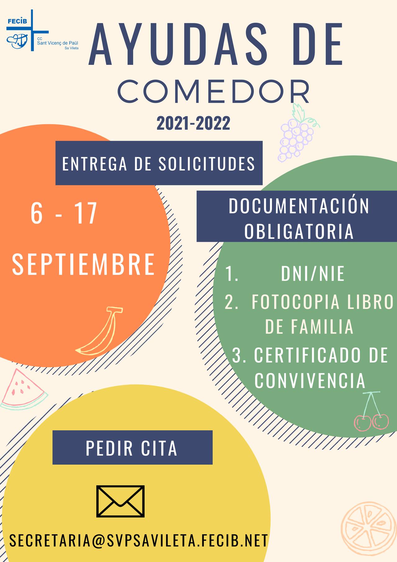 AYUDAS DE COMEDOR 2021-2022