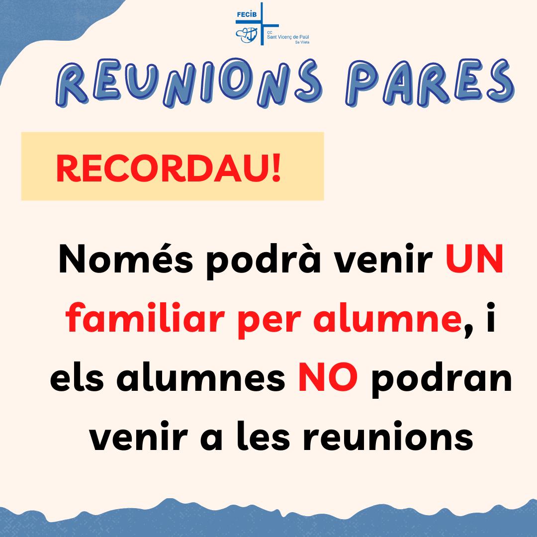 REUNIONS DE PARES 2021/2022
