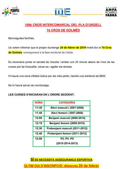 109è CROS INTERCOMARCAL DEL PLA D'URGELL