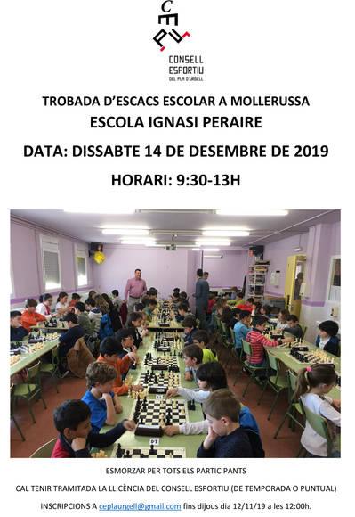 Trobada d'escacs escolar a l'Escola Ignasi Peraire de Mollerussa