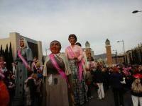 La Colla Gegantera a la festa solidària pel càncer de mama