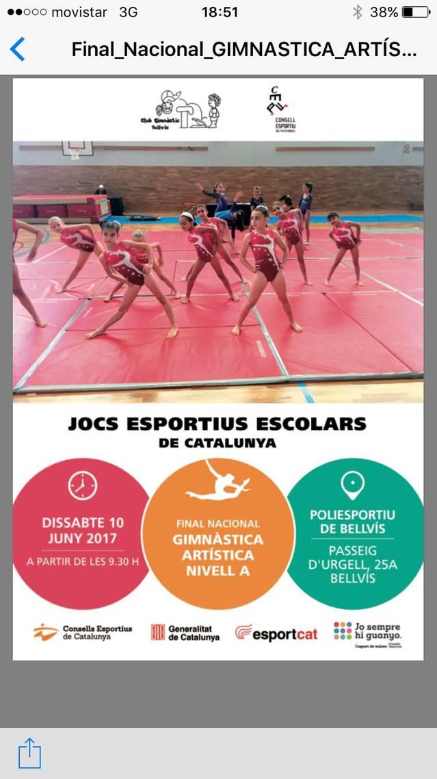 Jocs Esportius Escolars de Catalunya de Gimnàstica Artística a Bellvís