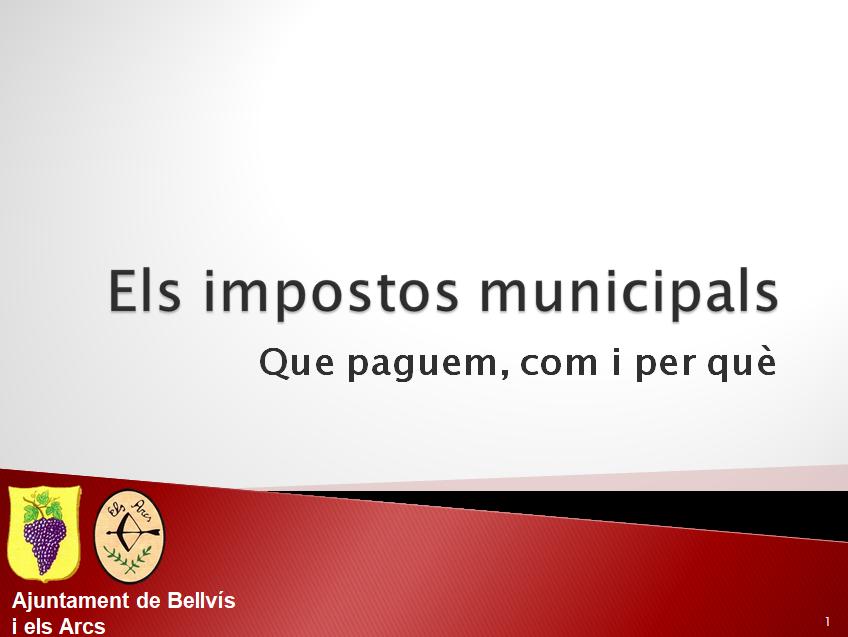 Sessió informativa sobre el pressupost 2018 i els impostos municipals