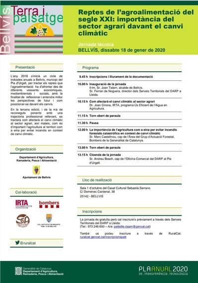 Jornada tècnica agrícola a Bellvís: la importància del sector agrari davant del canvi climàtic