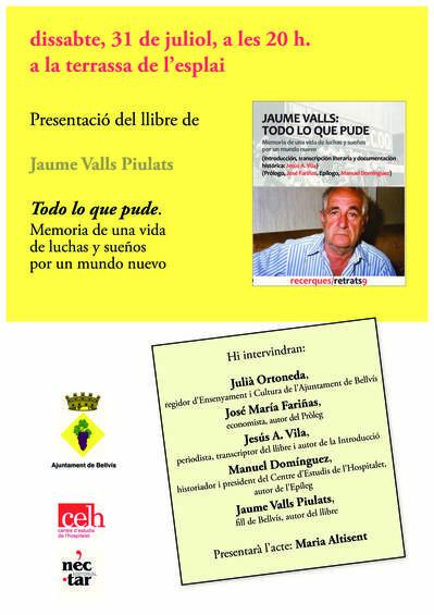 Presentació del llibre de Jaume Valls Piulats