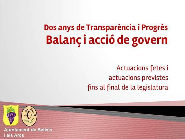 Balanç i acció de govern