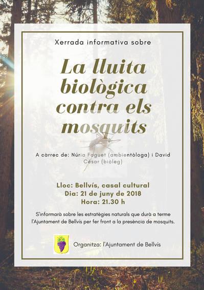 """Xerrada informativa sobre """"La lluita biològica contra els mosquits"""""""