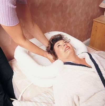 Lavacabezas cama hinchable