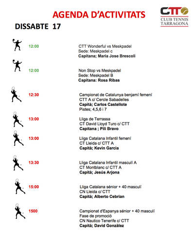 Agenda del cap de setmana del 17 i 18 de novembre