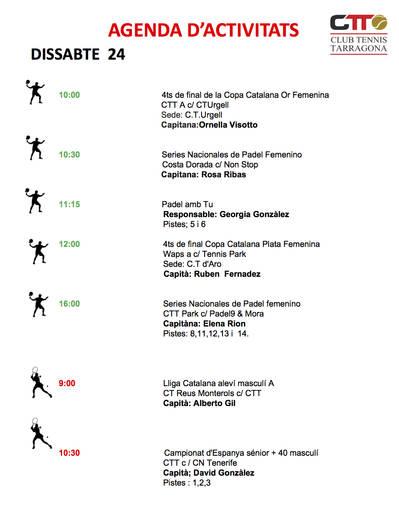 Agenda del fin de semana del 24 y 25 de noviembre