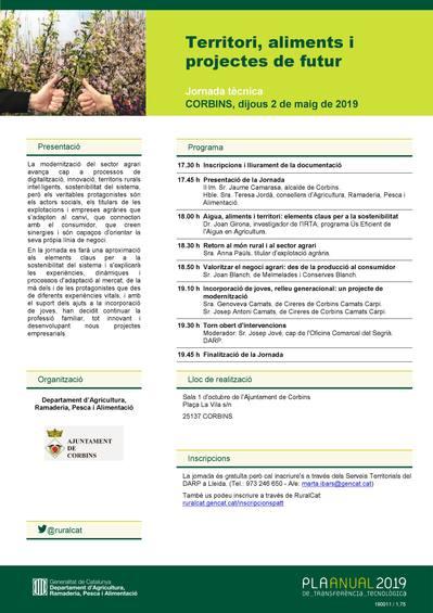 Jornada d'Agricultura: Territori, aliments i projectes de futur