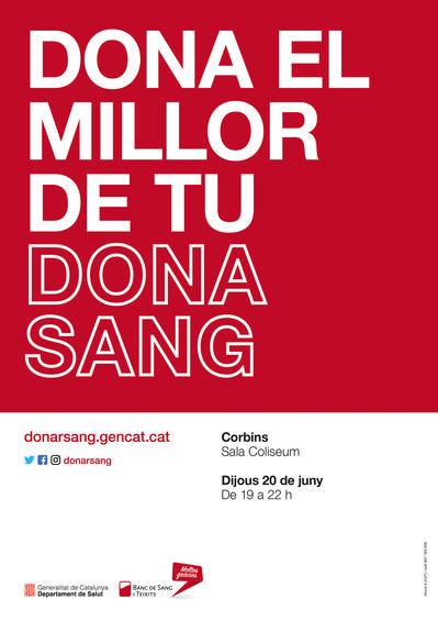 Campanya de donació de sang a la Sala Coliseum