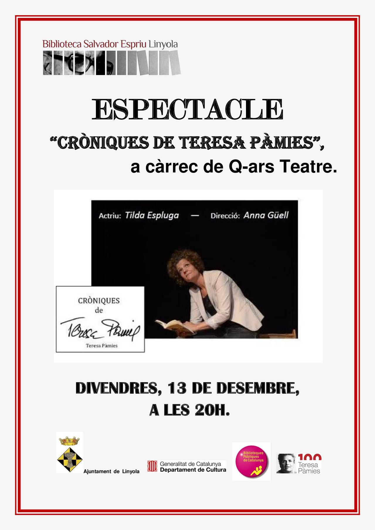 CRÒNIQUES DE TERESA PÀMIES