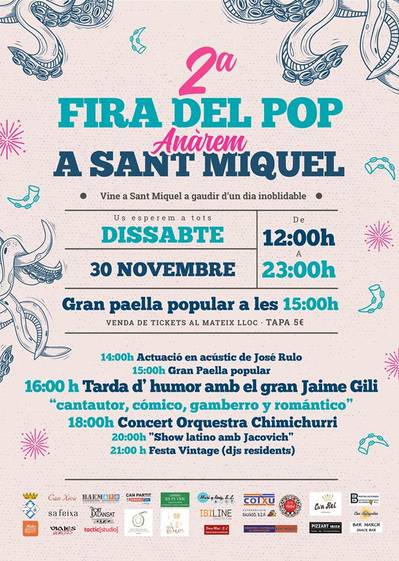 2nd Fira del Pop Anàrem to Sant Miquel - Octopus gastronomic festival