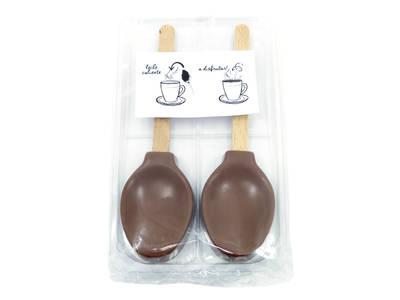 2 pcs chocolate-milk teaspoon