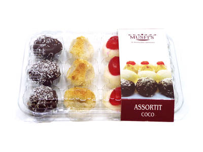 "Assorted coconut 12 units 265 Grs. ""Musfi's"""