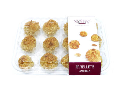 "Almond panellets 12 units. 290 grs ""Musfi's"""