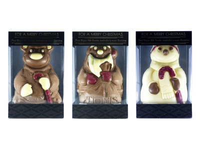 Christmas colored figurines 125 grs - Mica Box-