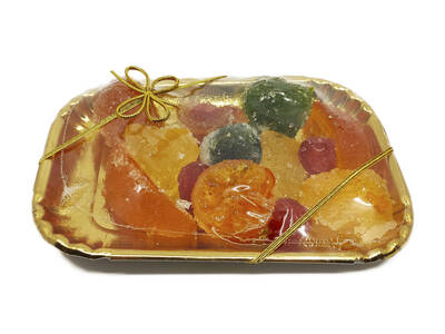 Candied fruit 300 Grs. -Tray-