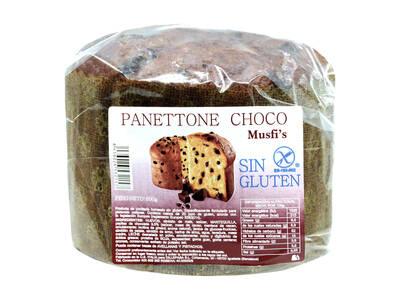 """Panettone choco 600 Grs.""""Sin Gluten""""-Musfi's-"""