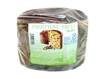 "Panettone fruta 600 Grs.""Sin Gluten"" -Musfi's-"