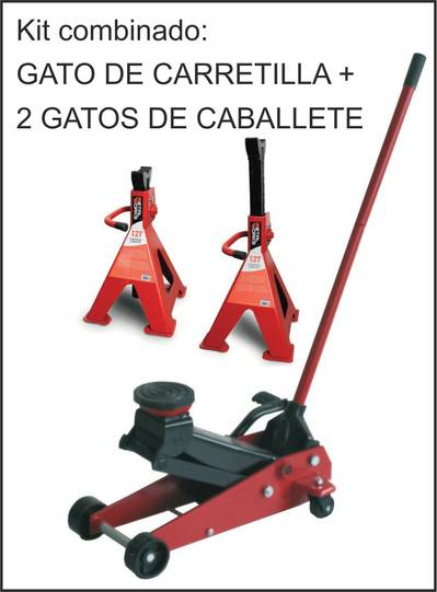 KIT GATO DE CARRETILLA + 2 CABALLETES